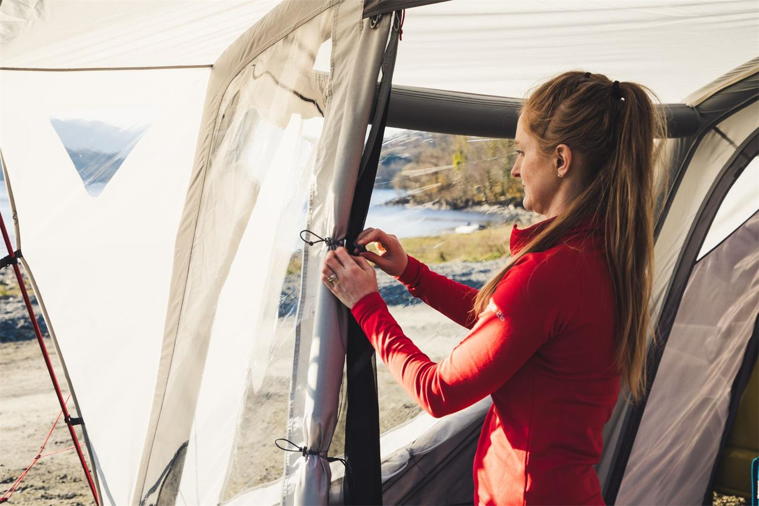 Relax and watch the hours go by in the Vango Tolga VW driveaway awning.