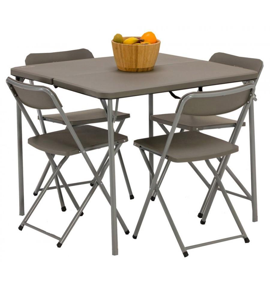 The Vango Orchard 86 Camping Table and Chairs Set