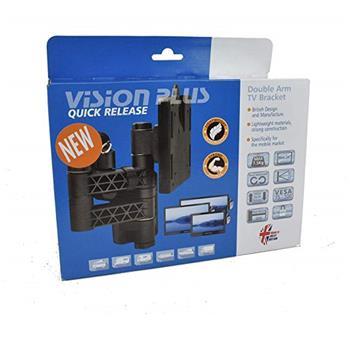 Vision Plus LCD TV Wall Bracket - Double Arm, Black