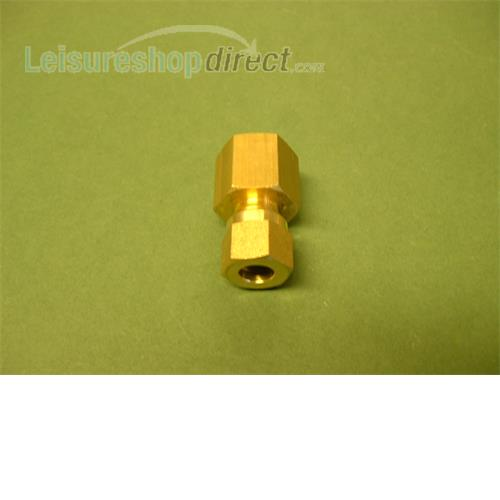 "Wade 8 mm x 1/4"" straight adaptor, comp x female"