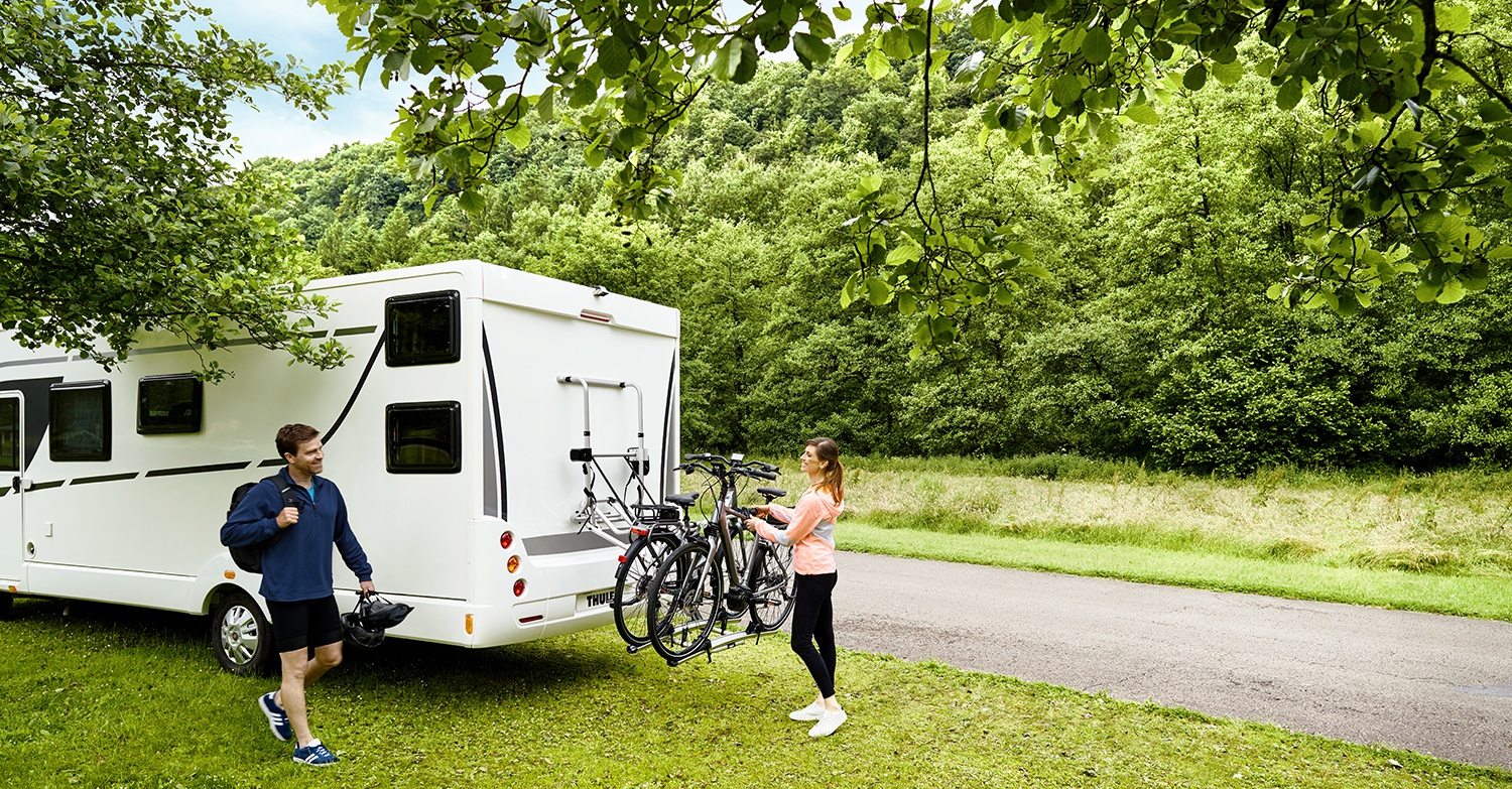 Easily fit a Thule bike rack to your Swift Caravan or Motorhome