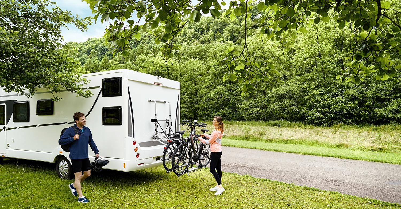 Easily fit a Thule bike rack to your Swift Caravan or Motorhome