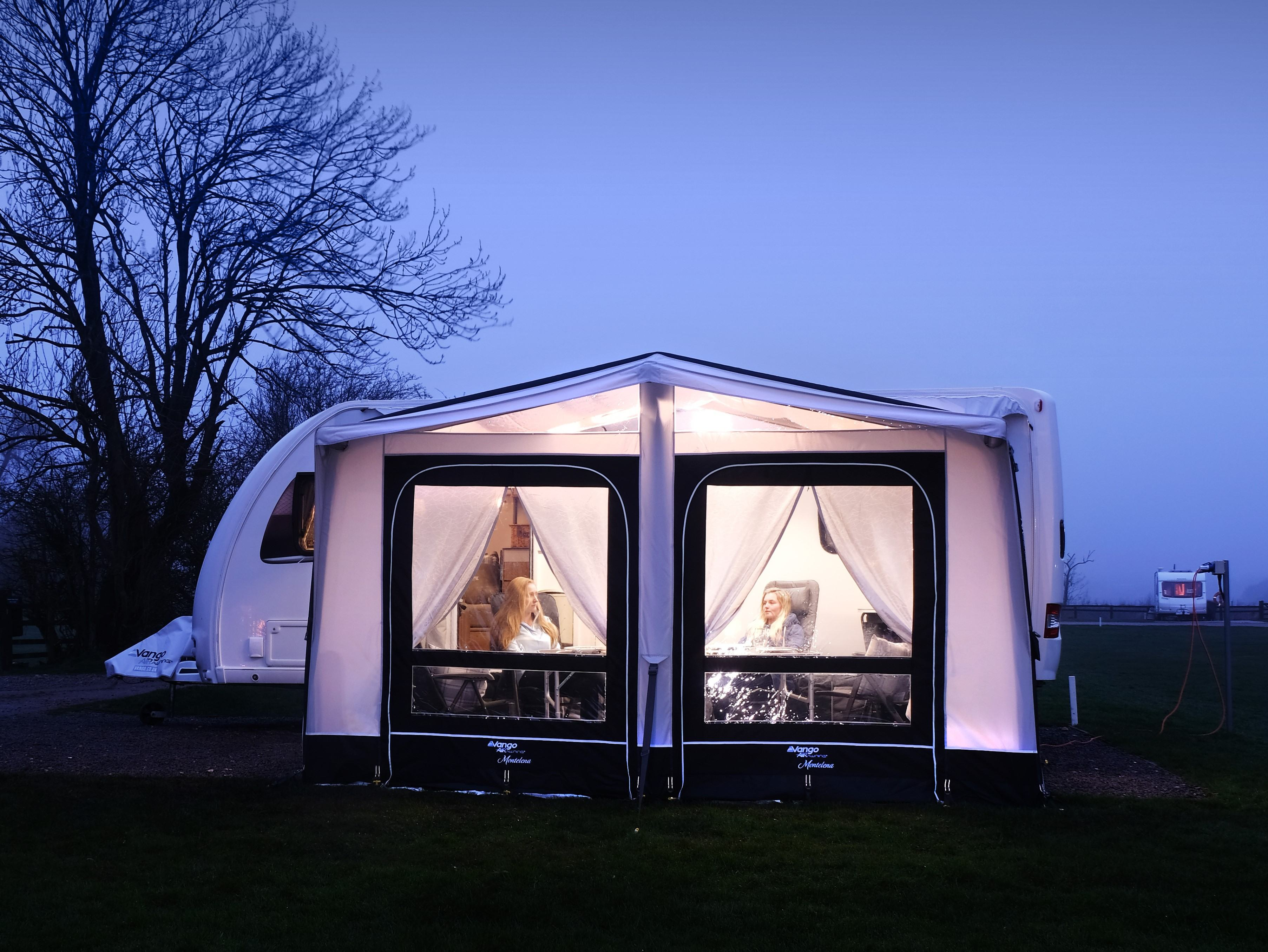 The beautifullt designed Vango Montelena Caravan AirAway awning