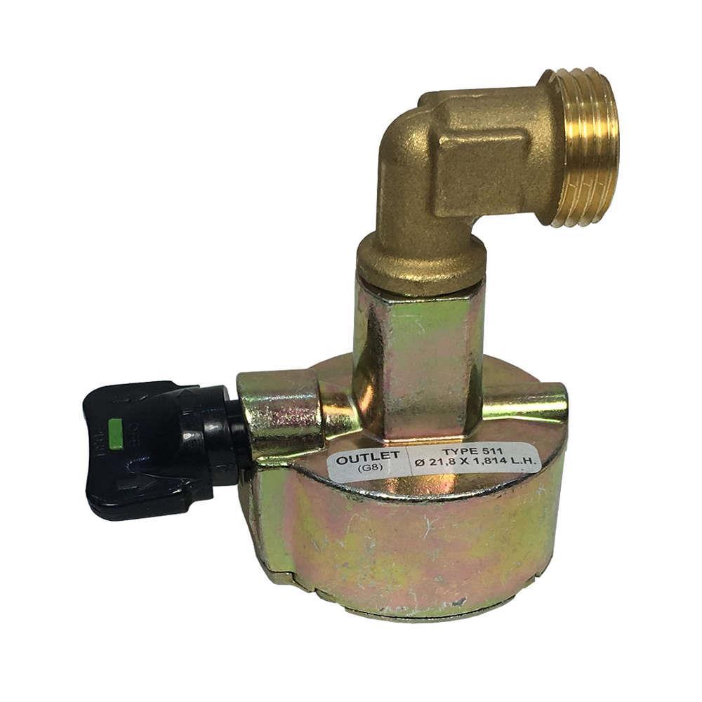 NEW BUTANE GAS CLIP-ON 20mm REGULATOR CARAVAN//CAMPING//MOTORHOME