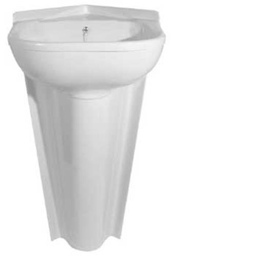 Plastic Basins For Sinks : Corner Inset Basin - Peach Corner Inset Caravan Basin Sink ...
