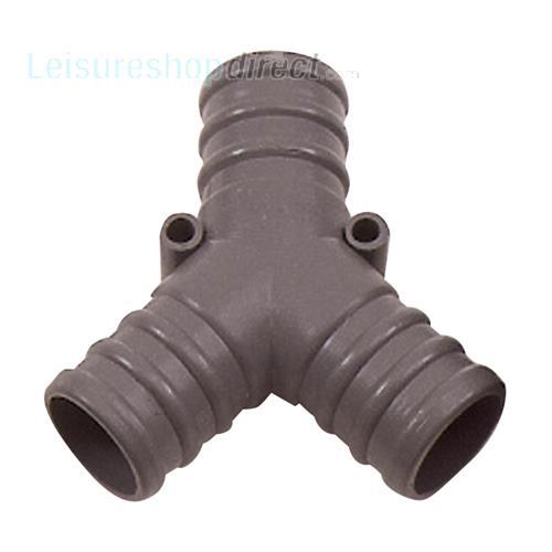 Quot y piece hose connector connections