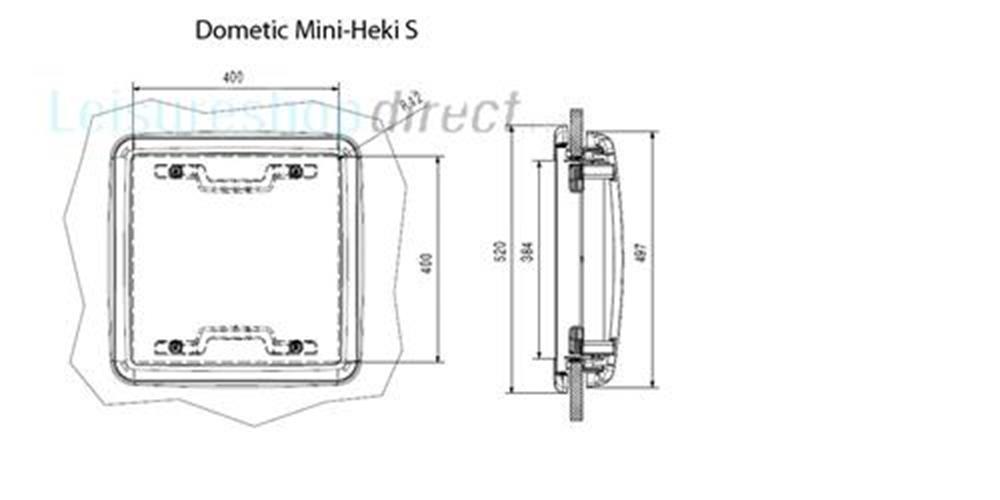 dometic mini heki s rooflight 23 42mm dometic mini heki. Black Bedroom Furniture Sets. Home Design Ideas