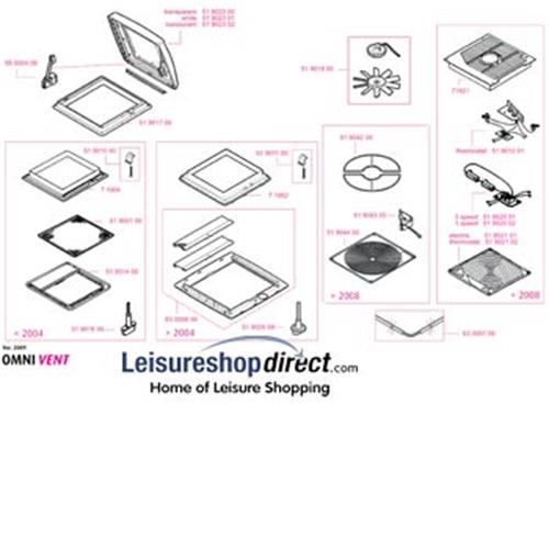 Parts Of Ventilator : Spare parts for omnivent rooflights leisureshopdirect