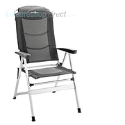 Kerry Slim Aluminium Recliner , Shadow Charcoal