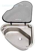Spinflo Triangular Caravan Sink with Lid L/H