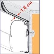 Fiamma Rain guard - standard - 1.1cm (per metre)