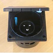 230 volt inlet - black