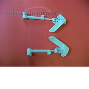 Window stay with lever lock for 300mm window