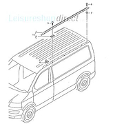 VW T5 Roof Rail Off Side (Short Wheel Base)