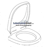 Thetford C2, C3 & C4 Seat & Lid Assembly - white 1619462