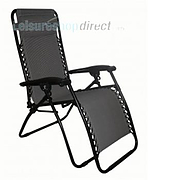 Liberty Padded Polyester Recliner Chair - Zero Gravity Chair Charcoal