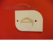 Back Plate Right White for Thetford Service Door  (Stock: 1)