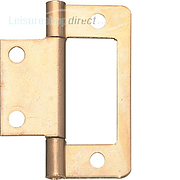 Flush Hinge Steel, Bronzed, 50mm for Inset Doors