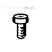 Dometic Screw,Zinc-Plated,Rxs B4x9,5