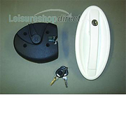 Motorcaravan FAP Oval Lock in White