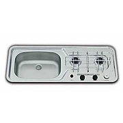 SMEV Caravan 2-Burner Narrow Combi Unit with Piezo Ignition