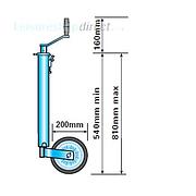 Heavy Duty Jockey Wheel 42mm shaft