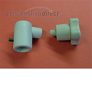 Polyplastic Window Stay Lock Fittings - grey