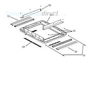 Dometic Midi-Heki Interior Frame Complete (version with operating bar)