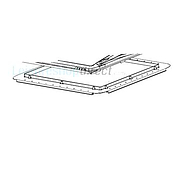Mini-Heki Plus Mounting Frame  for roof thickness 25-42 mm, Light Grey