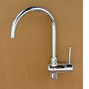 Whale Single lever swan neck kitchen tap
