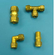Metric Compression Fittings with Soft Copper Olives