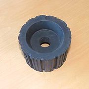 Ribbed roller 115mm diameter x 80mm wide