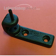 Top hinge black for polyplastic stay