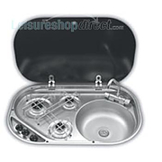 SMEV  3-Burner Hob ~~~ Sink with glass lid model 8303