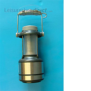 Camping Lantern - 9LED Stainless Steel Effect