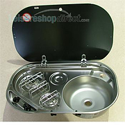 SMEV  8302  2-Burner Build-In Combi Unit and Glass Lid