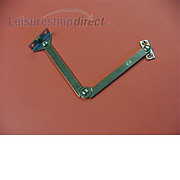 Cupboard Lock Joint Stay LH Nickel