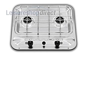 SMEV Series 909 2 burner Caravan Hob, no grill, piezo ignition