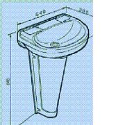 Plastic Double Skin Sink Basin Pedestal