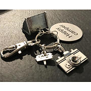 Happy Camper Key Ring With Tent, Beer and Bottle Opener Charms