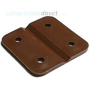 Plastic Hinge - chocolate brown