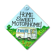 Home Sweet Motorhome Smiley Window sign
