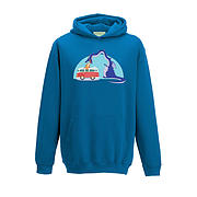 Kids Hoodie - Blue Dragon Attacking Camper