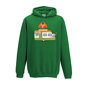 Kids Hoodie - Caravan And Animals