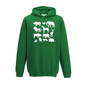 Kids Hoodie - Caravan with Silhouette Animals