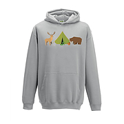 Kids Hoodie - Tent with Forest Animals
