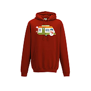 Christmas Caravan Hoodie - Santa and friends
