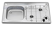 Smev MO921 2 Burner Caravan Hob/Sink Combination Left