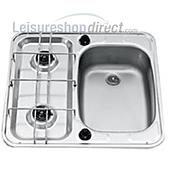 SMEV MO927R 2-Burner Caravan Hob/Sink Combination Right Hand