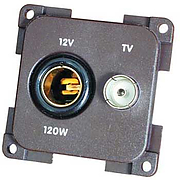 CBE 12V Euro socket+ TV Socket